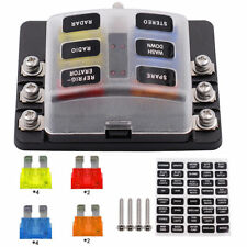12V 6 Way Car Auto Boat Bus UTV Blade Fuse Box Block Cover with LED Indicators