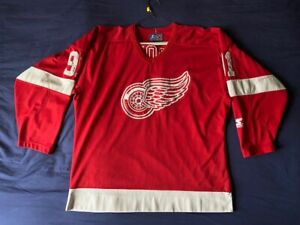 Men's vtg 90's Starter NHL Detroit Red Wings jersey Sergei Federov #91 size L