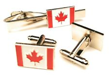 Canada Cufflinks & Tie-Pin Gift Set Brand New 20mm Mens Gift
