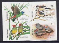 AUSTRALIA 2018 - FINCH Bird Wildlife P&S BOOKLET block Set of 4 MNH