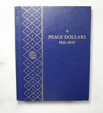 Used Whitman 1921-1935 Peace Dollars Empty Coin Album Book - 10 Oz. *202
