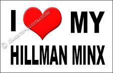 Hillman Minx Super Minx Novità FRIGO CALAMITA amo la mia