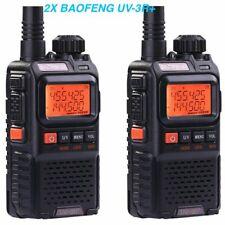 2PCS MINI Baofeng UV-3R+Plus Walkie Talkie Dual Band UHF/VHF CTCSS Two-Way Radio