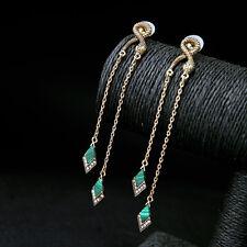 New Rhinestone Stone Snake Drop Dangle Earrings Gift Vintage Women Party Jewelry