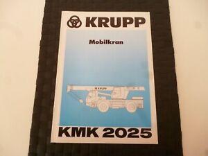 KRUPP MOBILE CRANE KMK 2025 DIMENSIONS LIFTING BROCHURE/BOOKLET *AS PICTURES*