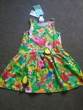NEW girls h+m tropical bright summer dress 8 - 9 - 10 YEARS  - bnwt / tagged