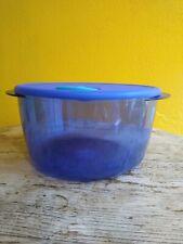 Tupperware Rock N Serve Container Microwave Safe 8 1/2 Cups Blue w/ Aqua Spout