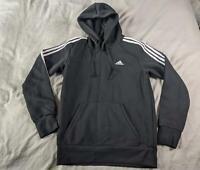 Adidas Men's 3 Stripes Pullover Hoodie CD4 Black/White Small NWT