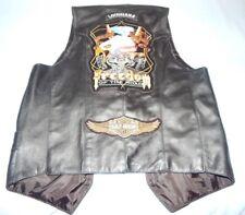 Harley Davidson Black Leather Motorcycle Vest Sz 38 Slidell La