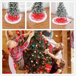 Merry Christmas Christmas Tree Skirt Xmas Tree Cushion Party Foot Carpet SG