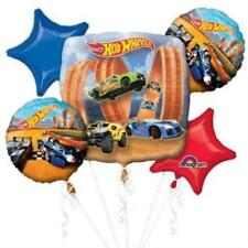 HOT WHEELS CARS 5 FOIL BALLOON BOUQUET CLUSTER BIRTHDAY PARTY DISPLAY  UK SELLER