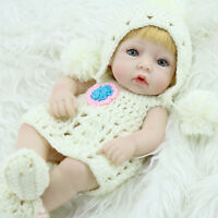 "10"" Lifelike Dolls Full Vinyl Handmade Real Looking Newborn Girls Doll"