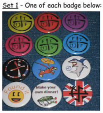 12 x Geocaching Badges 25mm Badges Swag sets of 12 geocache leave in cache