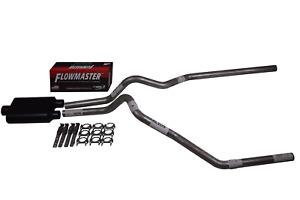 "Chevy Silverado GMC Sierra 15-18 2.5"" Dual exhaust Flowmaster Super 44 muffler"