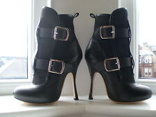 VIVIENNE WESTWOOD SEDITIONARY BLACK LEATHER BOOT 4 ~ 37