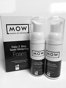Daily 2 Step Teeth Whitening Foam by Ministry Of Whitening - As seen in Vogue