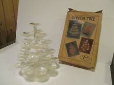 1940'S - CHRISTMAS - CRYSTAL PLASTIC TREE - UNION PRODUCTS - HOLIDAY CANDY  NUTS