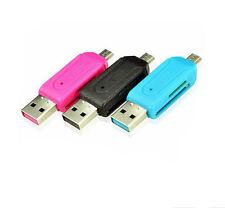 1*Smart Phone PC USB 2.0 Micro USB OTG AdapterSD T-Flash Memory Card Reader HD3Z