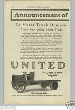 1917 PAPER AD 3 PG United Service Brand Motor Truck 2 to 5 Ton Worm Drive