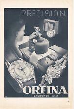 vintage 1949 print ad ORFINA Swiss Suisse watch movement MID CENTURY ART
