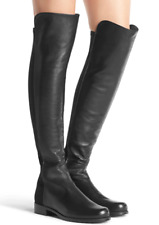 Stuart Weitzman 5050 over the knee leather boots size 6.5 black