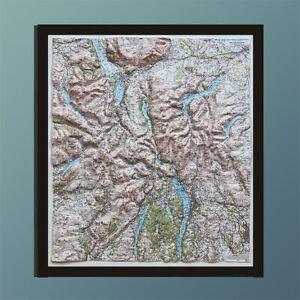 New Dorrigo 3D Lake District Map - Framed