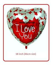 18 INCH/46CM I LOVE YOU HELIUM BALLOON PARTY BIRTHDAYS BALLOONS WEDDINGS