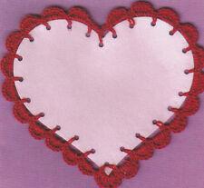 Crochet Pattern ~ VALENTINE TO WRITE ON HEART ~ Instructions