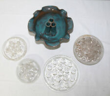 Mixed Lot of 5 Vintage Glass Flower Frogs- Various Styles / Sizes