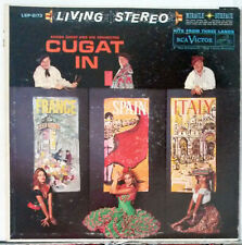 Xavier Cugat Orchestra In France Spain & Italy Stereo LP Andalucia Ciao Bambina