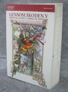 GENSO SUIKODEN V 5 Complete Edition Guide w/Poster PS Book 2006 KM37*