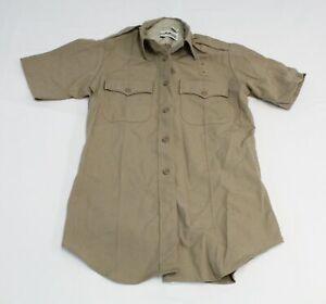 Flying Cross Women's Deluxe Tropical S/S Uniform Shirt MP7 Silver Tan Size 34