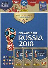 Panini - WM 2018 Russia - Hardcover Stickeralbum + 3 Sammeltüten (NEU & OVP!)