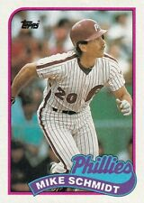 New listing Mike Schmidt - 1989 Topps - # 100 - FREE SHIPPING!
