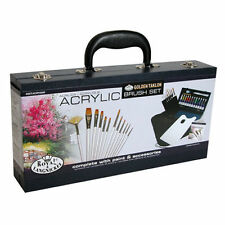 Artists Acrylic Brush Set 31pc Art Set in Carry Case By Royal and Langnickel