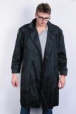 Maggie Lawrence Mens 14 XL Coat Waterproof Jacket Black Shiny Double Breasted