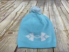 Under Armour Girl's Coldgear Green Winter Pom-Pom Hat  New No Tags