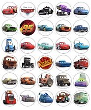 30 Cars Edible Wafer Rice Paper Cupcake Cup Cake Topper Image