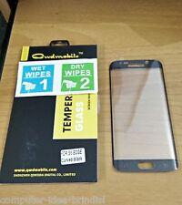 Pellicola in Vetro Temperato Curvo 100% per Samsung Galaxy S6 Edge NERO
