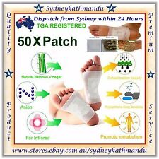 50 X Detox Foot Pads Patch Natural plant Toxin Removal Detoxify Fit Health Care