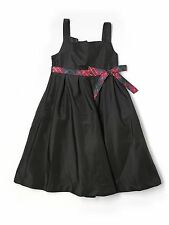Girl Gap Kids  Picture Perfect Black Plaid Holiday Dress Size M 8