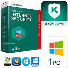 Kaspersky Internet Security 2017  Licenza 1ANNO 1PC Rinnovo / Nuova instalazione