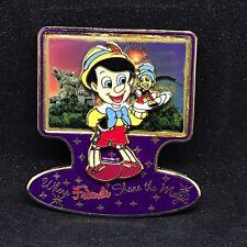 Disney DLR - Where Firends Share the Magic - Pinocchio & Jiminy - LE 2500