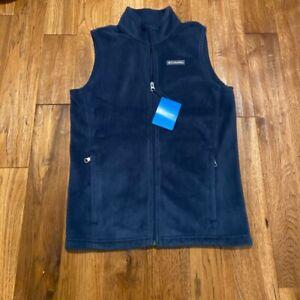 Boys Columbia Zip Up Fleece Vest size Large