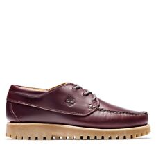NEW $140 Timberland MENS JACKSON'S LANDING MOC-TOE OXFORD SHOES Dark Red US 8.5