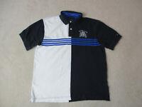 VINTAGE Tommy Hilfiger Polo Shirt Adult Extra Large Black White Crest Mens 90s