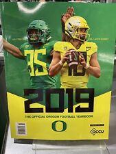Oregon Ducks Football 2019 Yearbook NCAA College Sports UO Justin Herbert