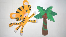Fisher-Price Rainforest Jumping Tiger Wall Hanging set of 2  Very Hard to Find
