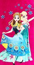 Frozen Elsa Anna Kid's girls beach bath pool swim towel cotton au stock 3
