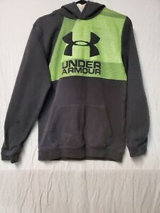 Youth Under Armour Size XL Pullover Hoodie Lime Green